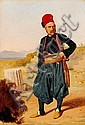 Constantin Hansen: Portrait of medallist F. C. Krohn (1806-1883).