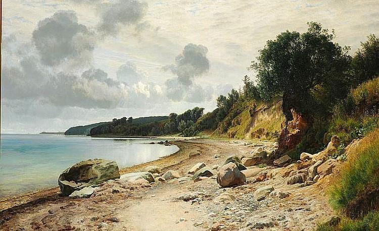 Janus la Cour: Summer day on the beach near Aarhus.
