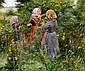 H. A. Brendekilde: Three little girls picking blackberries, H A Brendekilde, Click for value