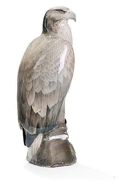 Vilhelm Th. Fischer: Eagle. A Royal Copenhagen porcelain figure. H. 89 cm.