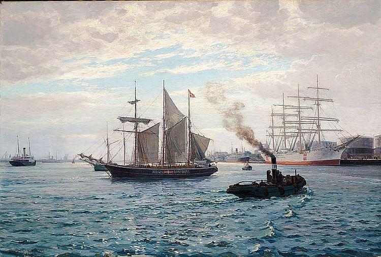 Christian Benjamin Olsen: The schooner
