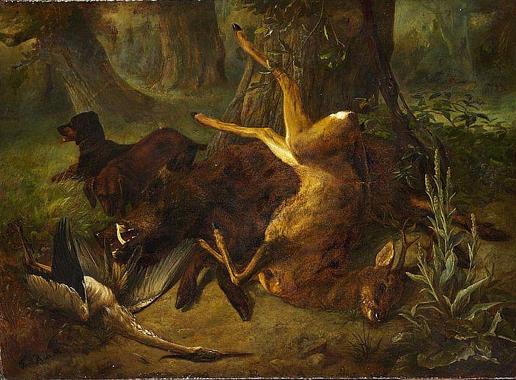 Friedrich Rückert: Hunting scene.