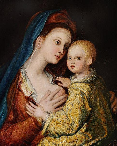 Barthel  Beham, style of, 16th century: Madonna and Child.