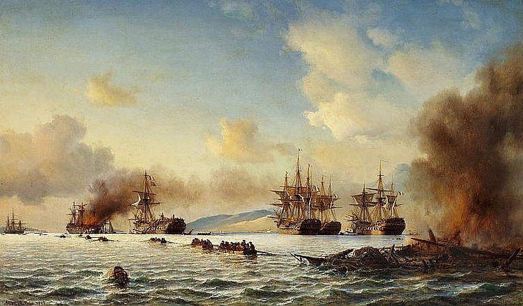 Anton Melbye: The Battle of Grand Port.