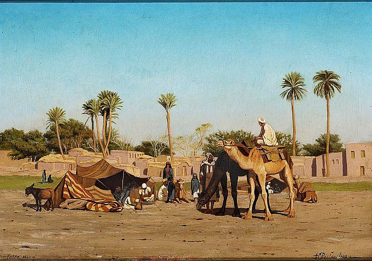 A. Riis Carstensen: A North African oasis.