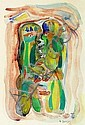 Asger Jorn: Didaska. Signed A. Jorn 46. Watercolour and gouache on paper. Visible size 30,5 x 21,5 cm., Jorn Asger, Click for value