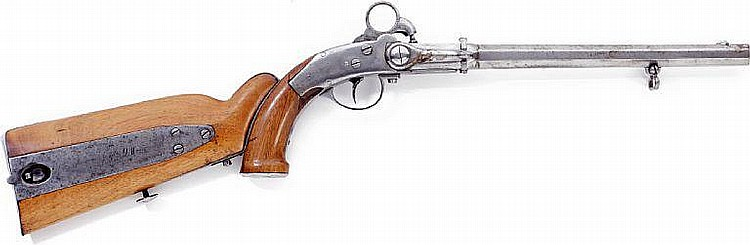 A pistol pattern 1852 for Holstein Gendarmerie with a detachable stock.