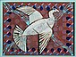 Peter Hentze Composition with dove in relief.