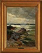 Holger Drachmann Breakers at Gothenburg Skerries,, Holger Drachmann, Click for value
