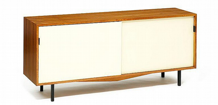 Florence Knoll: Sideboard with sliding doors. Made by Knoll Associates.