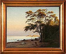 Fritz Stæhr-Olsen: Coastal scene at Elsinore,