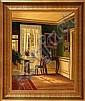 Frederik Wilhelm Svendsen: Living room interior., Frederik Wilhelm Svendsen, Click for value
