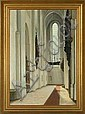 Hans Eriksen: View from Aarhus Cathedral. Signed, Hans Eriksen, Click for value