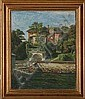Axel Johansen: A beach villa. Signed and dated, Axel Johansen, Click for value