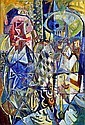 Mogens Balle: Composition. Signed MB 52. Oil on canvas. 95 x 65 cm., Mogens Balle, Click for value