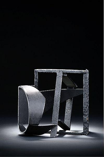 Robert Jacobsen: Sculpture, 1950. Stamped R.J. 216. Black painted iron. H. 19 cm.