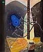 Vilhelm Bjerke-Petersen: Composition. Signed v.b.p. 47. Oil on masonite. 66 x 54 cm.