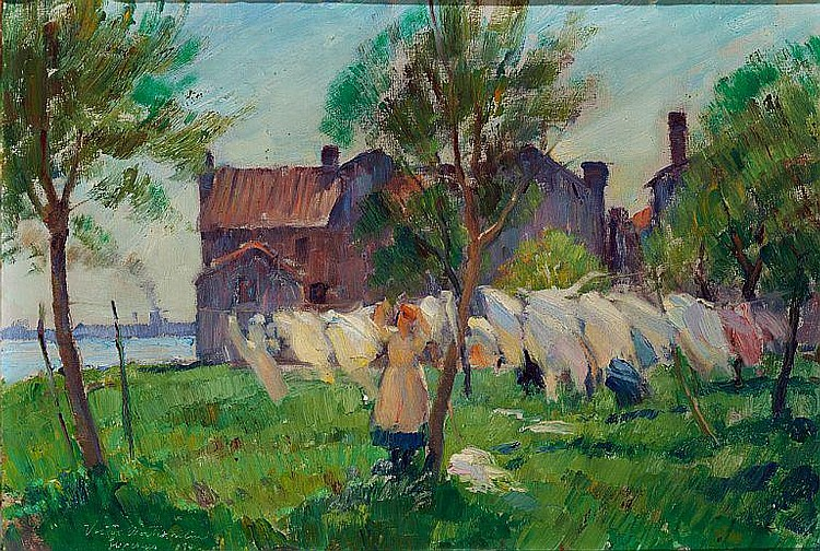 Victor Westerholm: Drying the laundry in the sun.