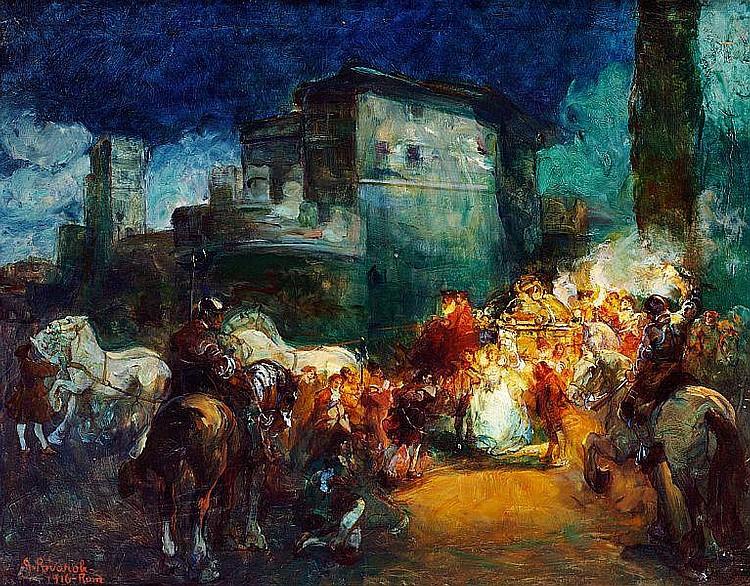 Giuseppe Rivaroli: Roman processions. (2).