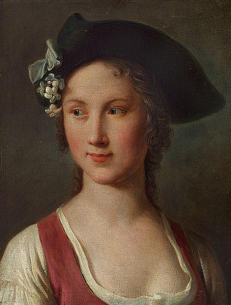 Pietro Antonio Rotari: A young woman with a hat.