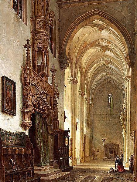 Franz Stegmann: View of the Lorenzkirche (Lorenz Church) in Nürnberg, Germany.