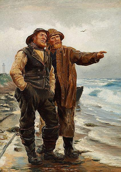 Michael Ancher: Two fishermen. 1879.
