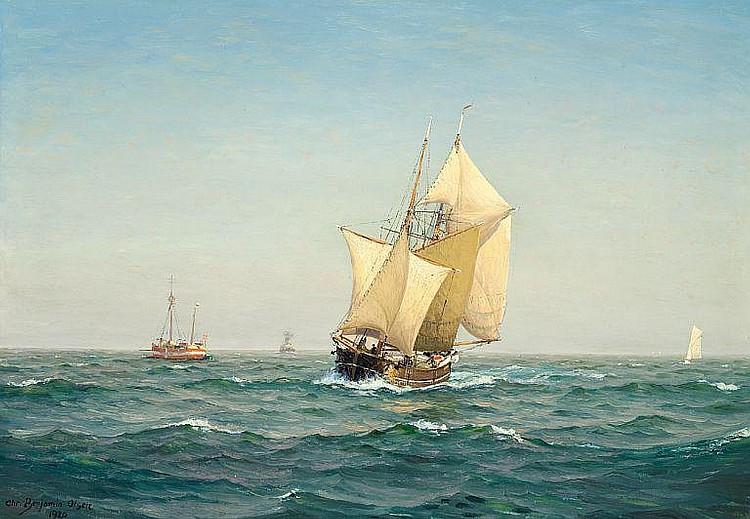 Chr. Benjamin Olsen: Nice weather at sea.