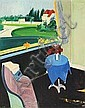 Axel Bentzen: Udsigten. Signed AB. Oil on canvas., Axel Bentzen, Click for value