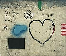 Kjeld Ulrich: Composition with heart and signs.