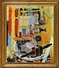 Knud Agger: Atelier billede (the painter's, Knud Agger, Click for value