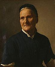 Frederik Vermehren: Portrait of an elderly woman.