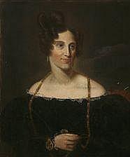 Johan Vilhelm Gertner, style, c. 1840: Portrait of