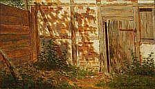 Heinrich Buntzen: Sunlight farm. Signed Heinrich