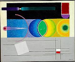 Vilhelm Bjerke-Petersen: Composition. Signed