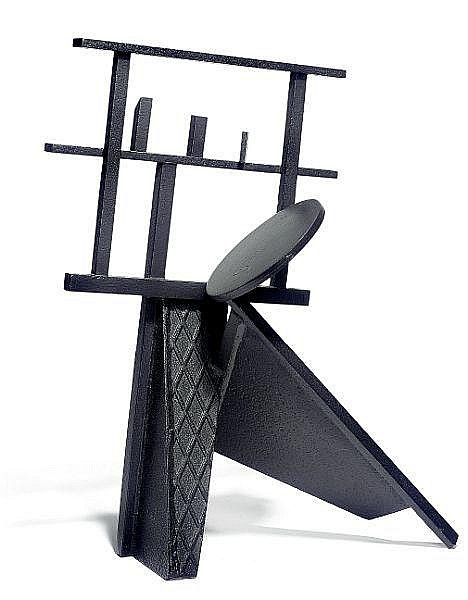 Robert Jacobsen: Sculpture, c. 1980-85. Stamped RJ, VI. Black patinated iron. H. 58,5 cm. W. 47 cm. D. 36 cm.