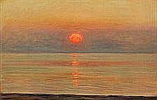 Albert Wang: View over the sea with sunset.