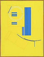 Mogens Lohmann: Composition. AAXII. Signed on the