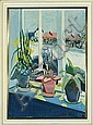Axel Bentzen: A view trough a window. Signed AB., Axel Bentzen, Click for value