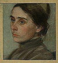 Harald Giersing: Portrait of a woman, c. 1909.