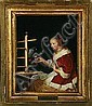 Frans van Mieris, after: A young girl in a red, Frans