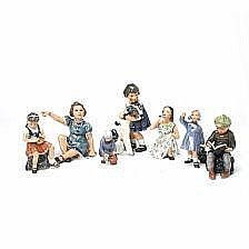 Jens Peter Dahl-Jensen: Seven porcelain figurines.