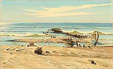 Carl Milton Jensen: A ship wreck on Skagen Beach,