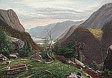 E. Rasmussen Eilersen: Mountain scenery with a