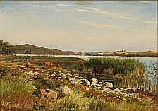 Viggo Pedersen : View from Tystrup Lake, Denmark.