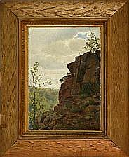 Vilhelm Pacht View from a cliff over the woods.