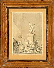 Johann Meno Haas Putti working on a bust of King