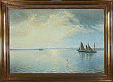 Albert Wang Horsens Fiord in the evening sun.