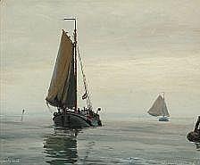 Chr. Benjamin Olsen : Seascape from Frederikssund,
