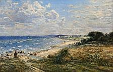 Anton Thorenfeld : Coastal scene from Hulerød with