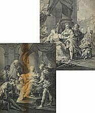 Simon François Ravenet : Lucretia and Gunhilda.